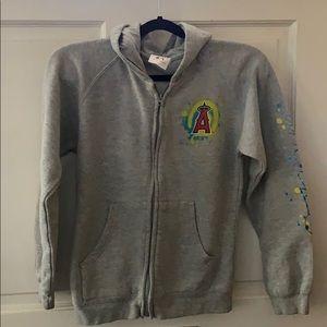 CCandy LA Angels MLB Sweatshirt ZipUp Hoodie Girls